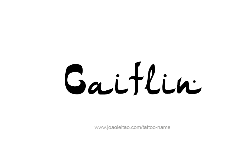 Tattoo Design Name Caitlin