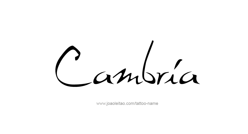 Tattoo Design Name Cambria