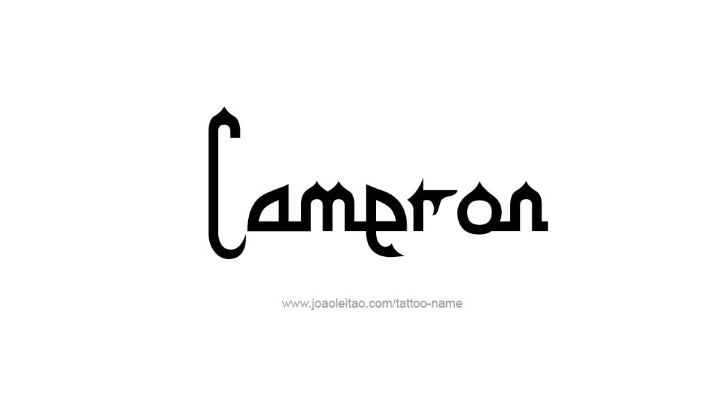Tattoo Design Name Cameron