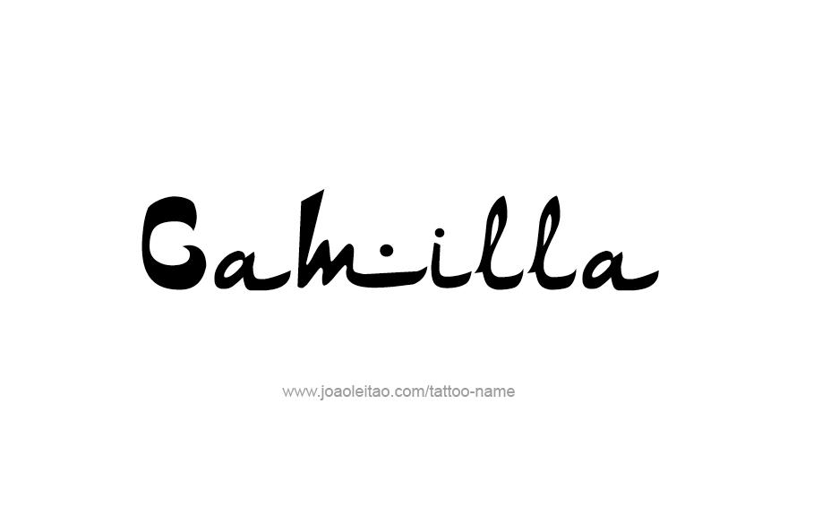 Tattoo Design Name Camilla