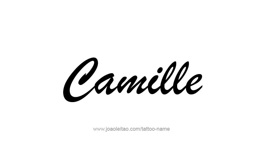 Tattoo Design Name Camille