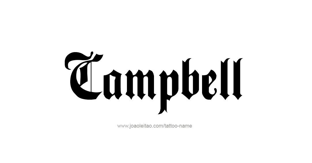 Tattoo Design Name Campbell