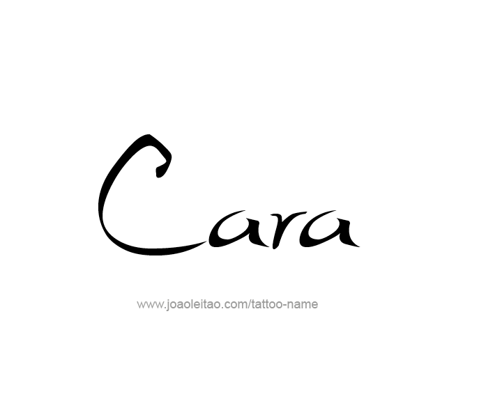 Tattoo Design Name Cara