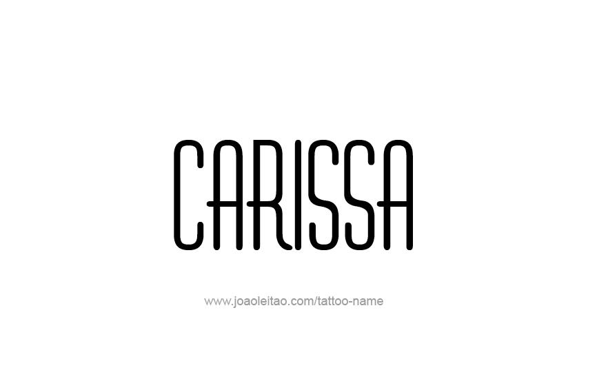 Tattoo Design Name Carissa