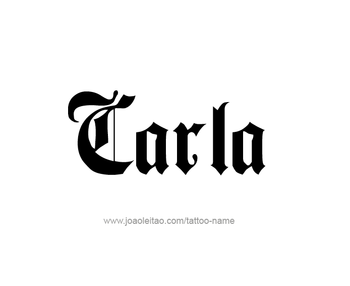 Tattoo Design Name Carla
