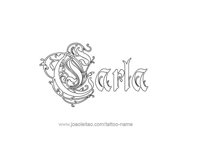 Tattoo Design Name Carla