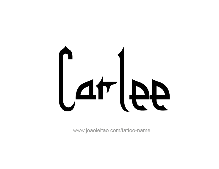 Tattoo Design Name Carlee