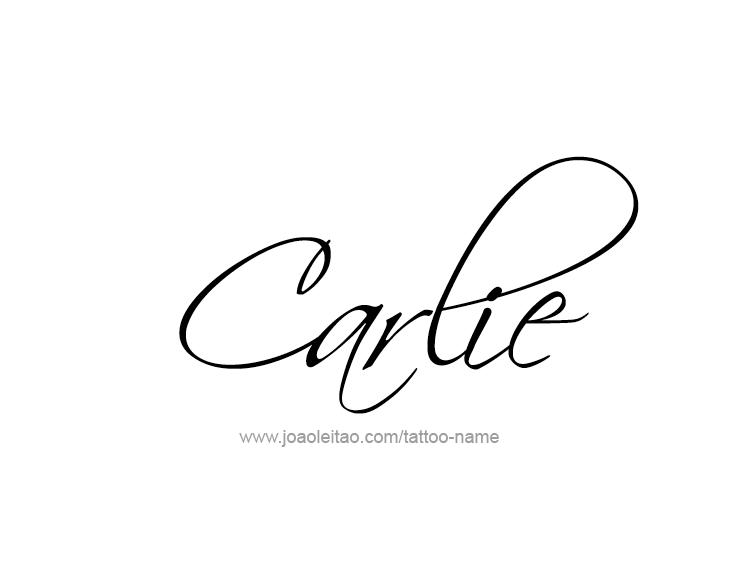 Tattoo Design Name Carlie