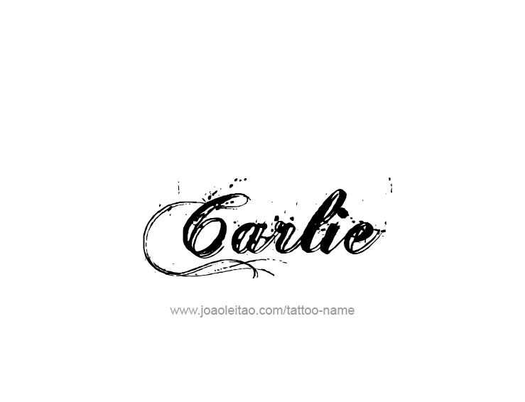 Tattoo Design Name Carlie