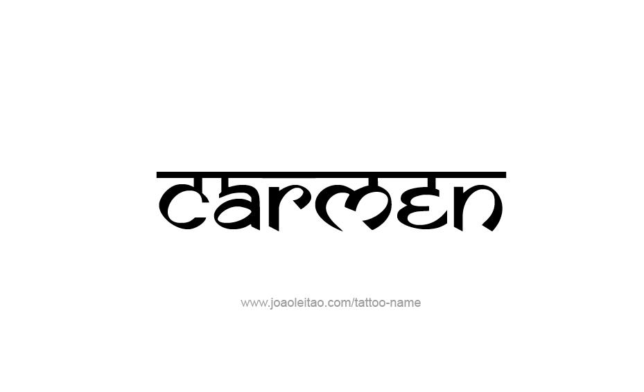 Tattoo Design Name Carmen