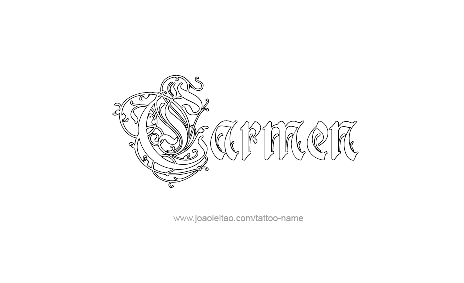 Tattoo Design Name Carmen