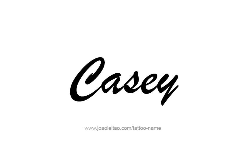 Tattoo Design Name Casey