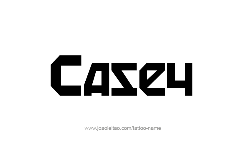 Casey Name Tattoo Designs