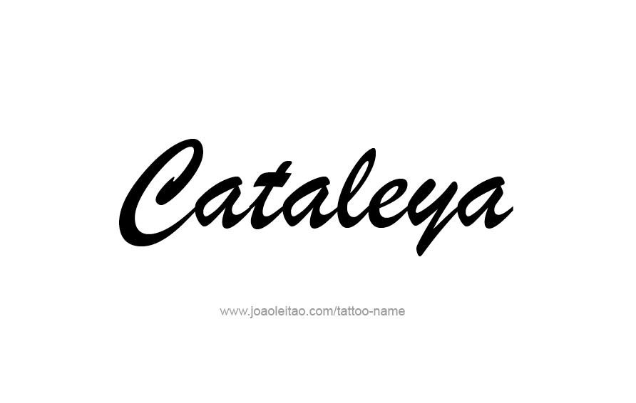 Tattoo Design Name Cataleya