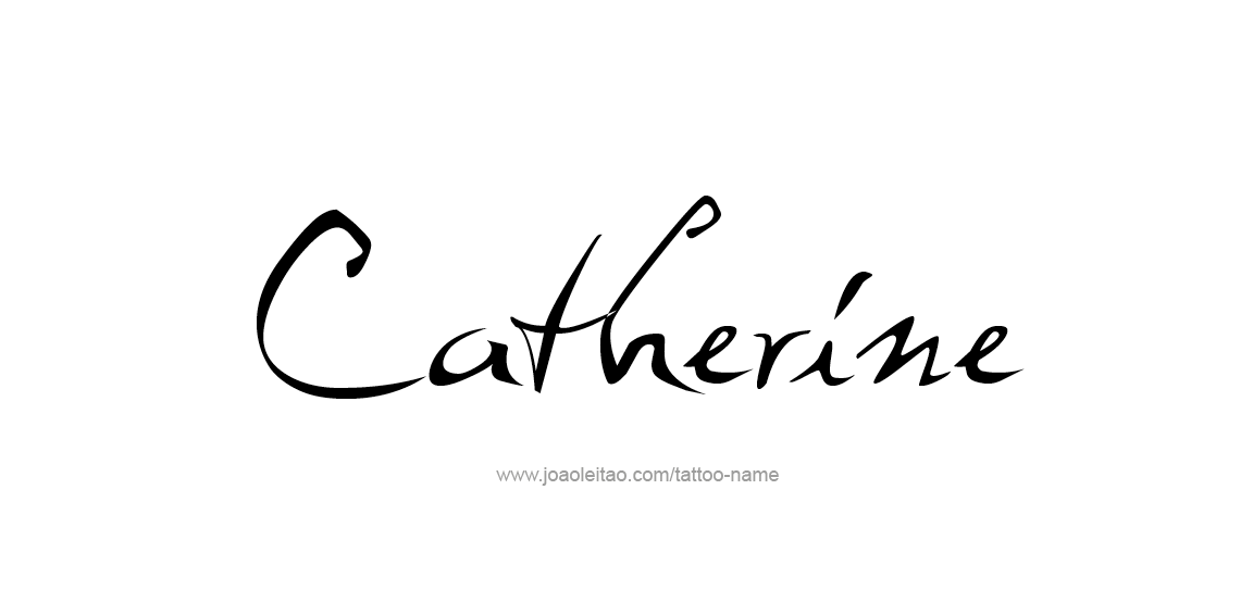 Tattoo Design Name Catherine