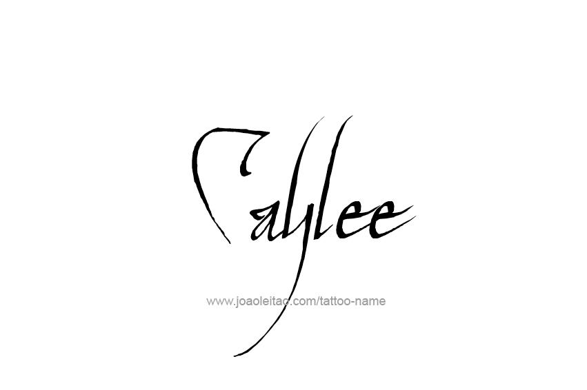 Tattoo Design Name Caylee