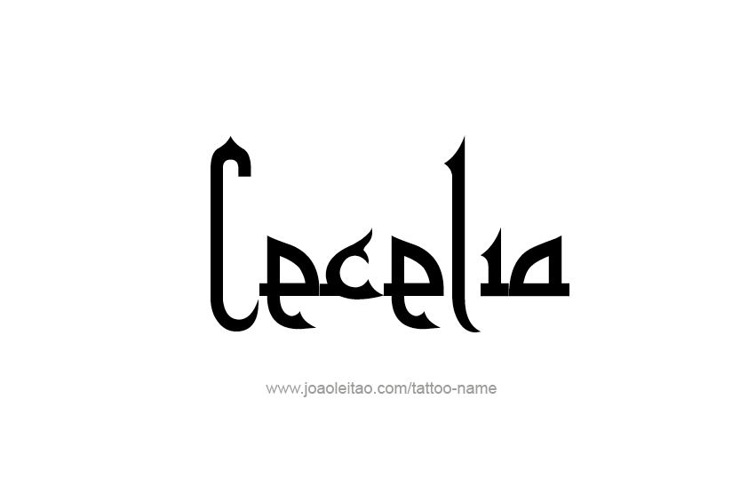 Tattoo Design Name Cecelia