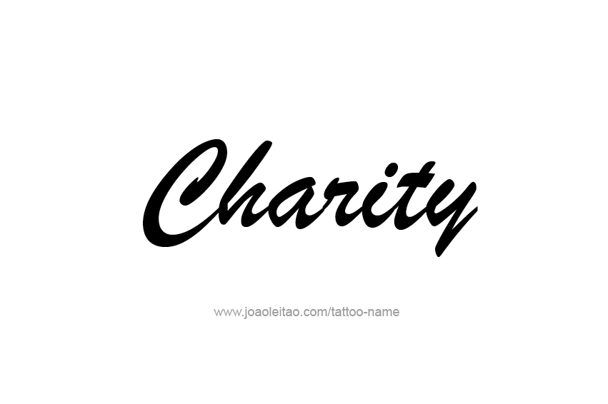 Tattoo Design Name Charity