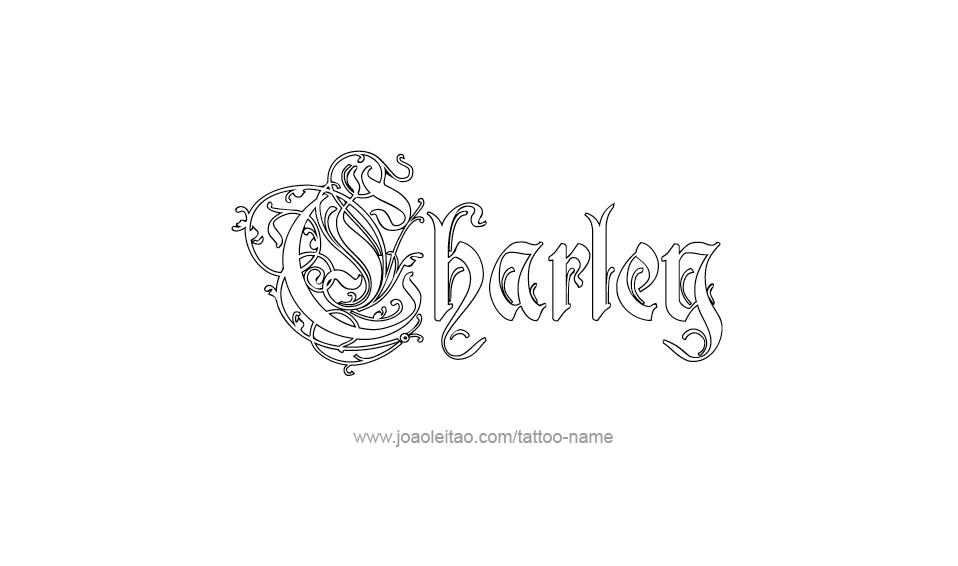 Tattoo Design Name Charley