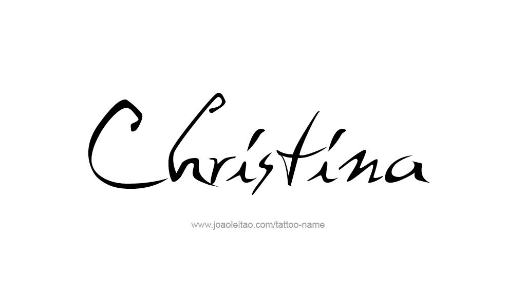 Tattoo Design Name Christina
