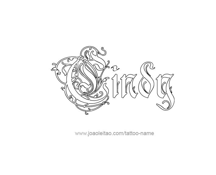 Tattoo Design Name Cindy