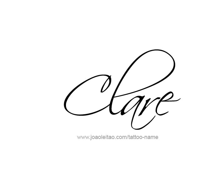 Tattoo Design Name Clare