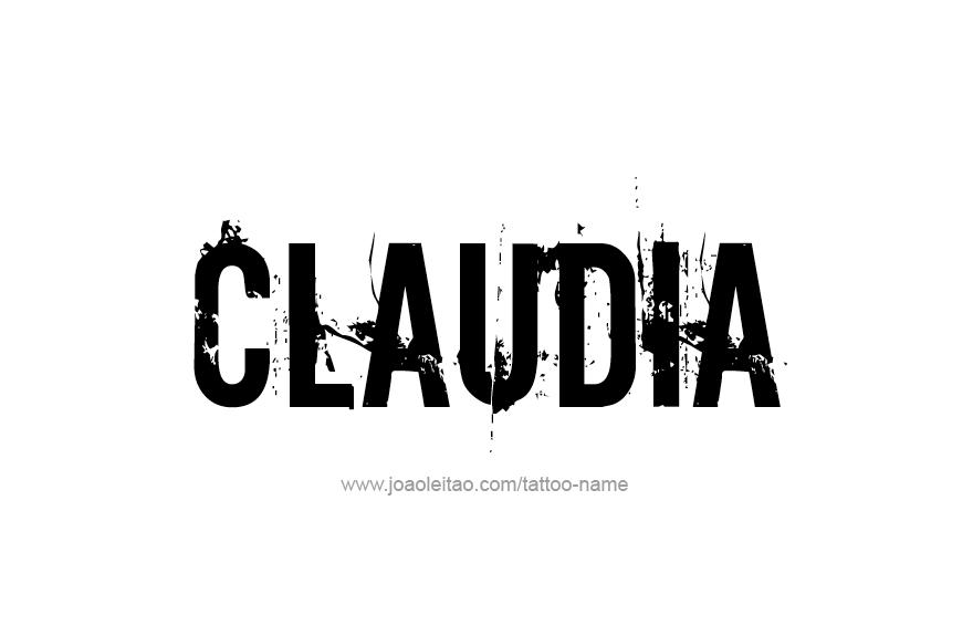 Tattoo Design Name Claudia