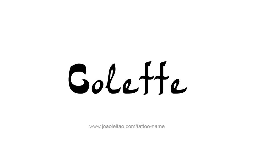 Tattoo Design Name Colette