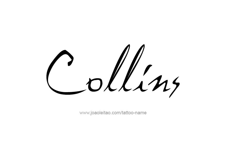 Tattoo Design Name Collins