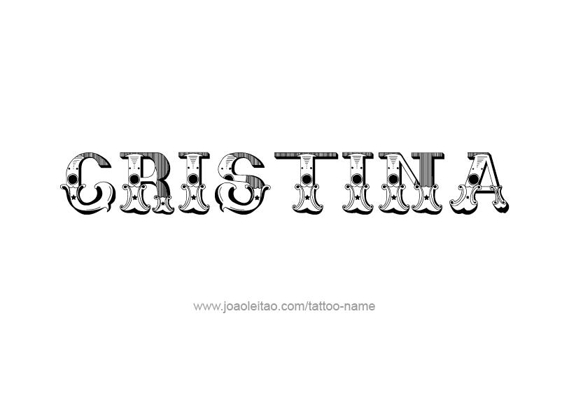 Tattoo Design Name Cristina