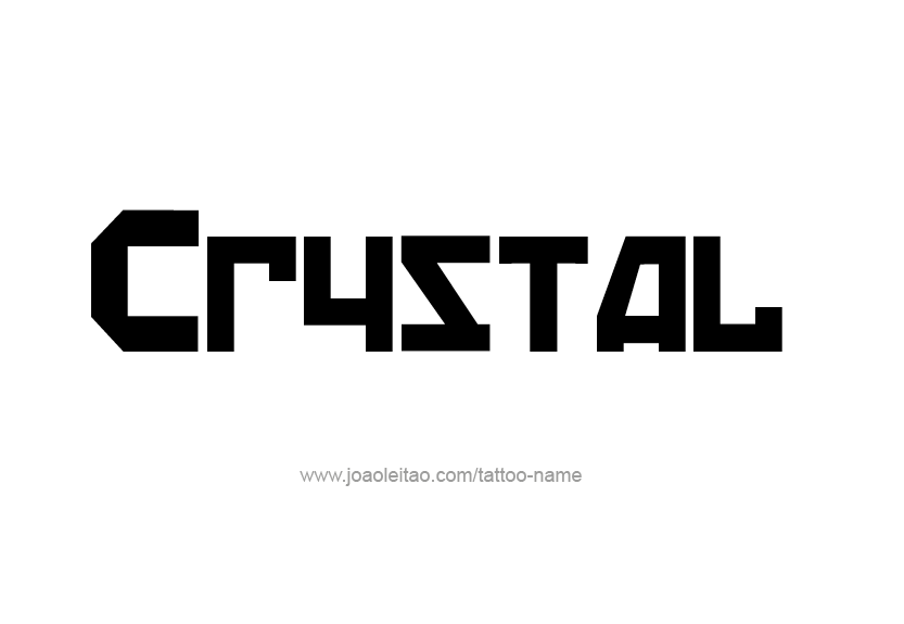 Tattoo Design Name Crystal