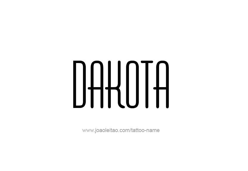 Tattoo Design Name Dakota