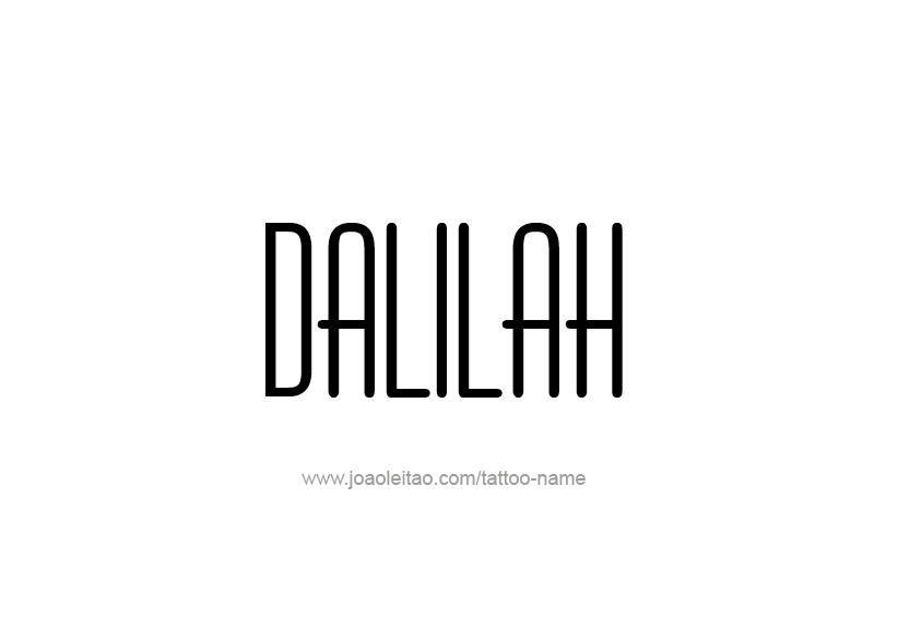 Tattoo Design Name Dalilah