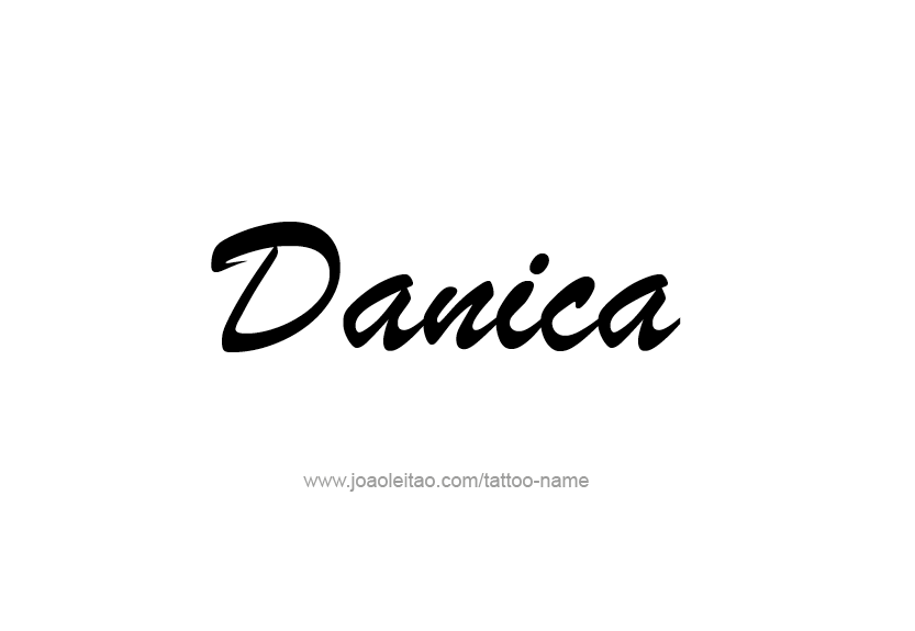 Tattoo Design Name Danica