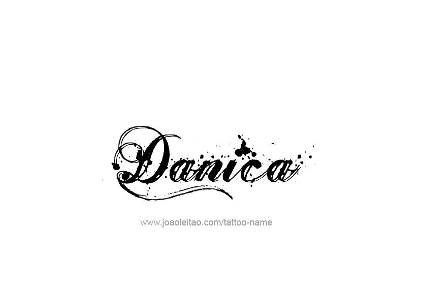 danica name tattoo designs