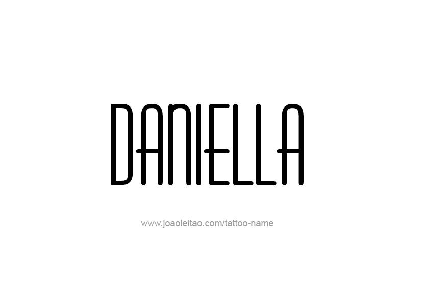 Tattoo Design Name Daniella