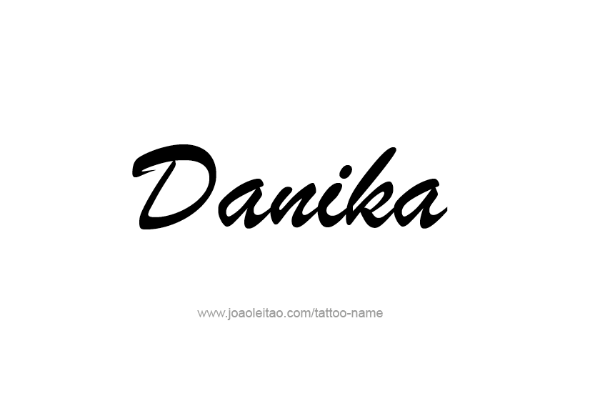 Tattoo Design Name Danika