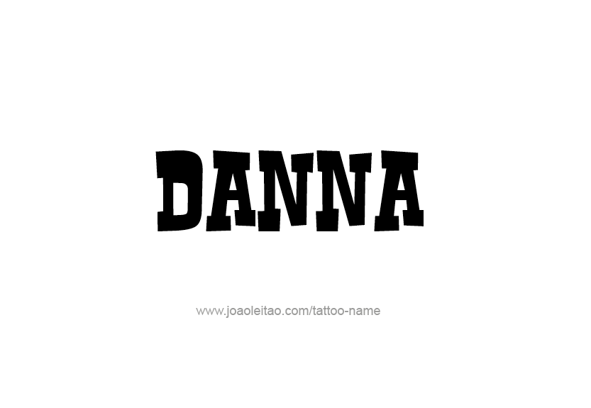 Tattoo Design Name Danna