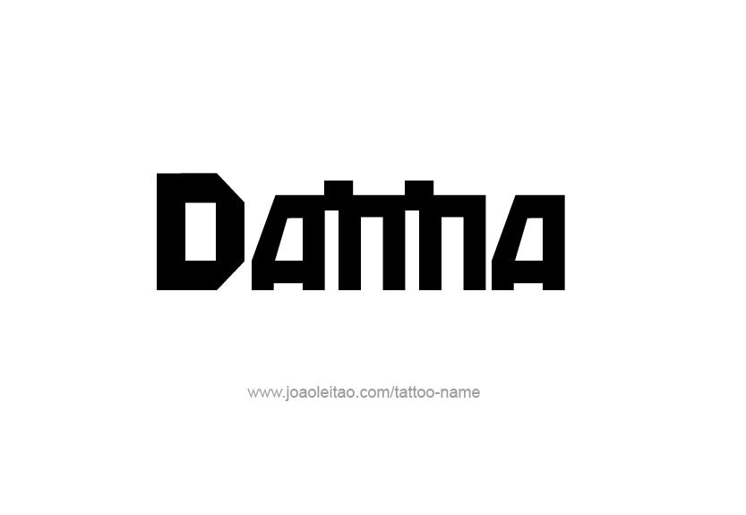 Tattoo Design Name Danna