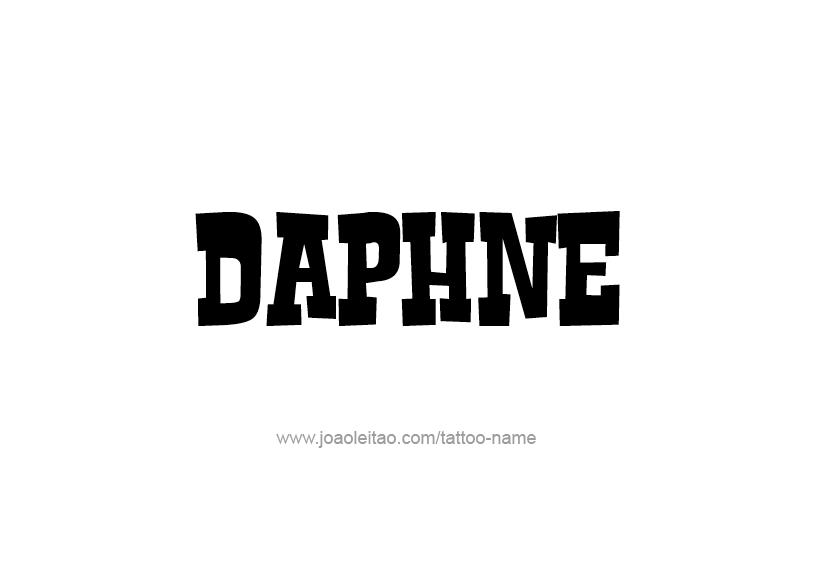 Tattoo Design Name Daphne