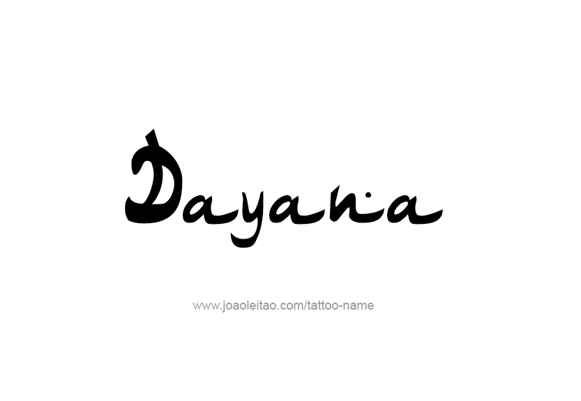 Tattoo Design Name Dayana