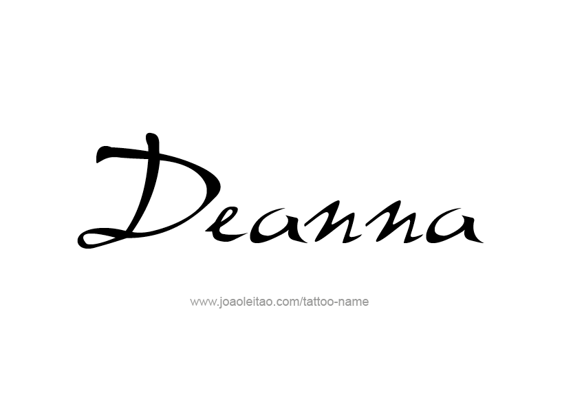 Tattoo Design Name Deanna
