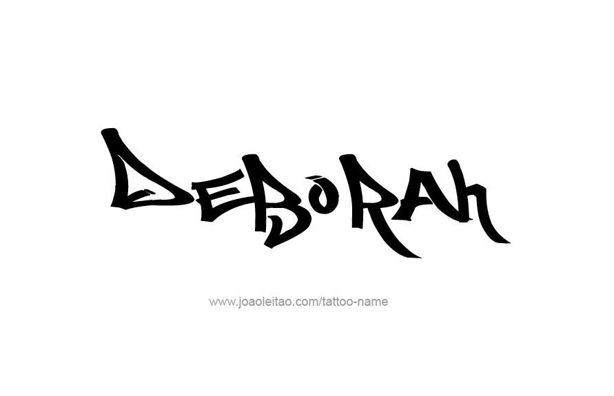 Tattoo Design Name Deborah