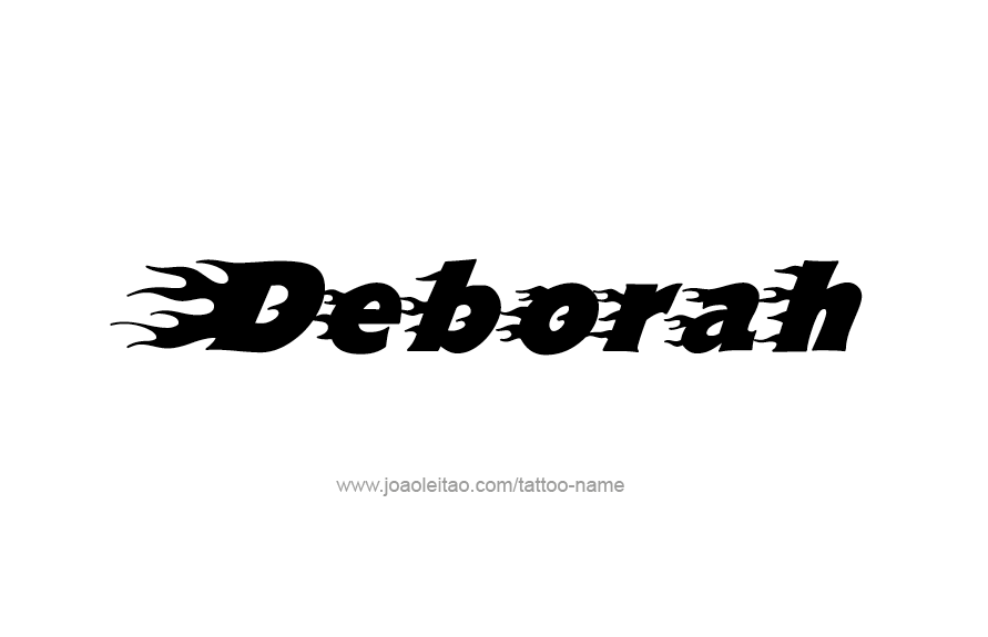 Tattoo Design Name Deborah
