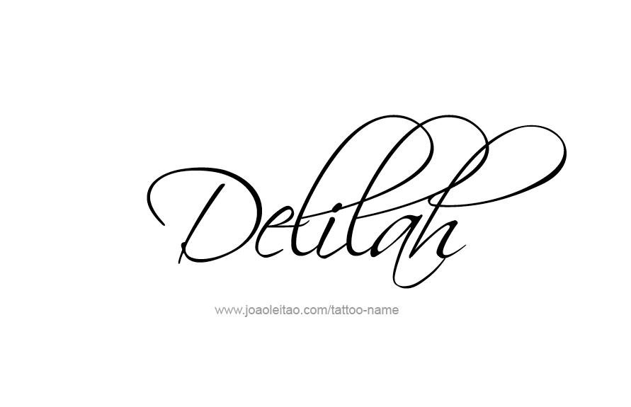 Tattoo Design Name Delilah
