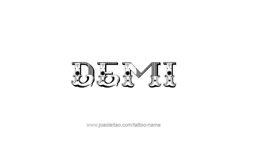 Tattoo Design Name Demi