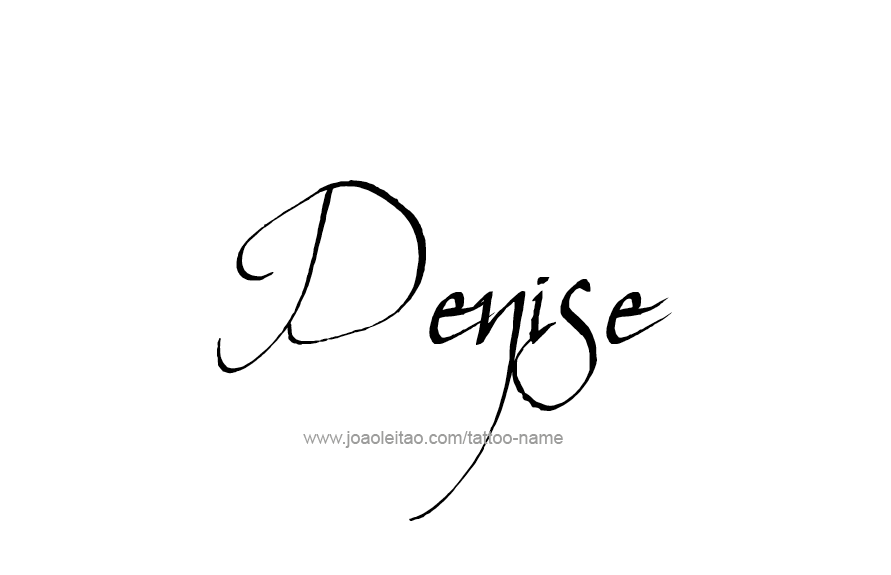 Tattoo Design Name Denise