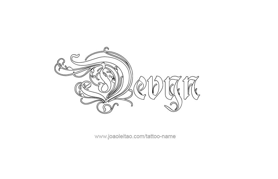 Tattoo Design Name Devyn