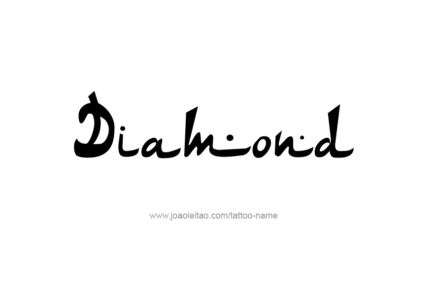 Tattoo Design Name Diamond