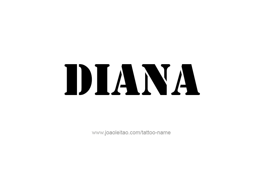 Tattoo Design Name Diana